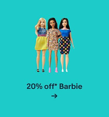 20% off* Barbie