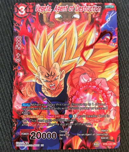 Vegeta Agent of Destruction BT6-120 DR Dragon Ball Super TCG Near Mint