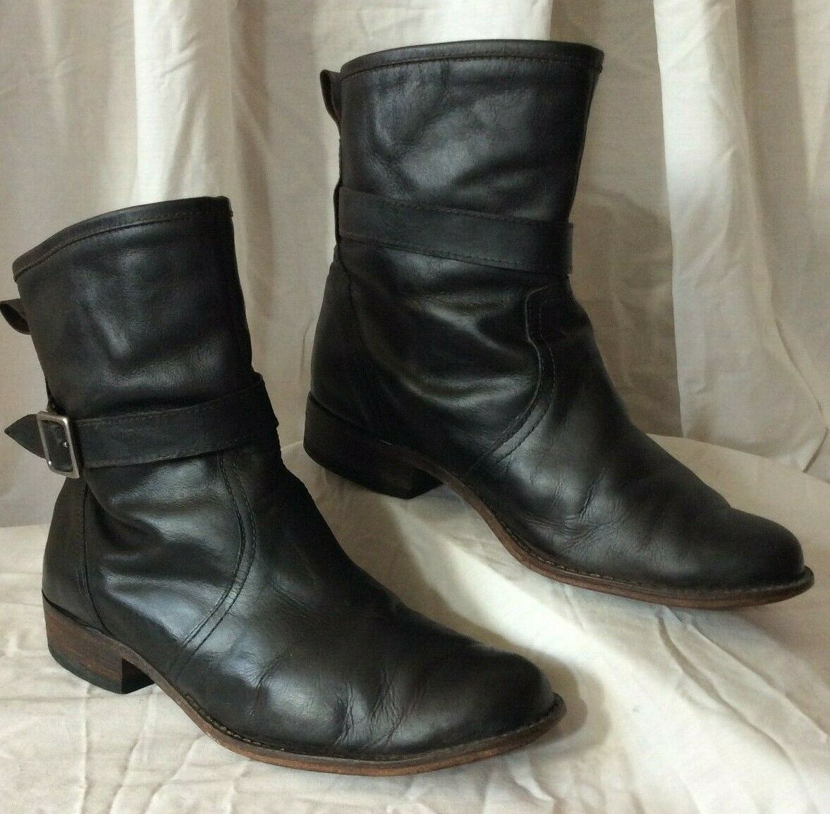 Charlie 1 Horse Cowboy Western Motorcycle Riding Ankle Boots - Women's 7.5B VGUC