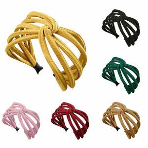 Women-039-s-Headband-Twist-Hairband-Bow-Knot-Cross-Tie-Cloth-Headwrap-Hair-Band-Hoop