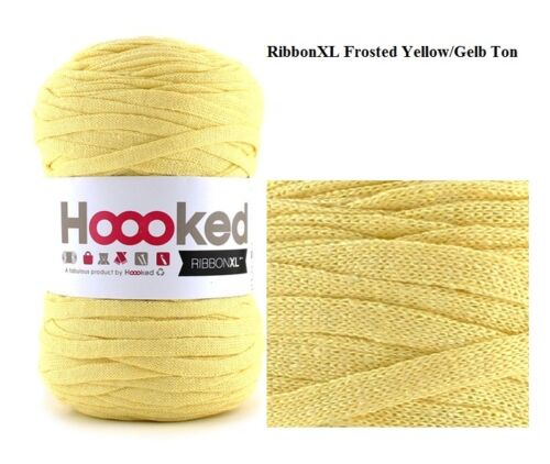 Hoooked `Ribbon XL Schwarz,Pink,Braun,Violett,Mint,Rot,Gelb,Taupe,Aprikose` Neu