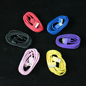 2M-6-ft-6-Long-Colorful-USB-Data-Sync-Cable-Charge-Cord-For-iPhone-4-4S-iPod
