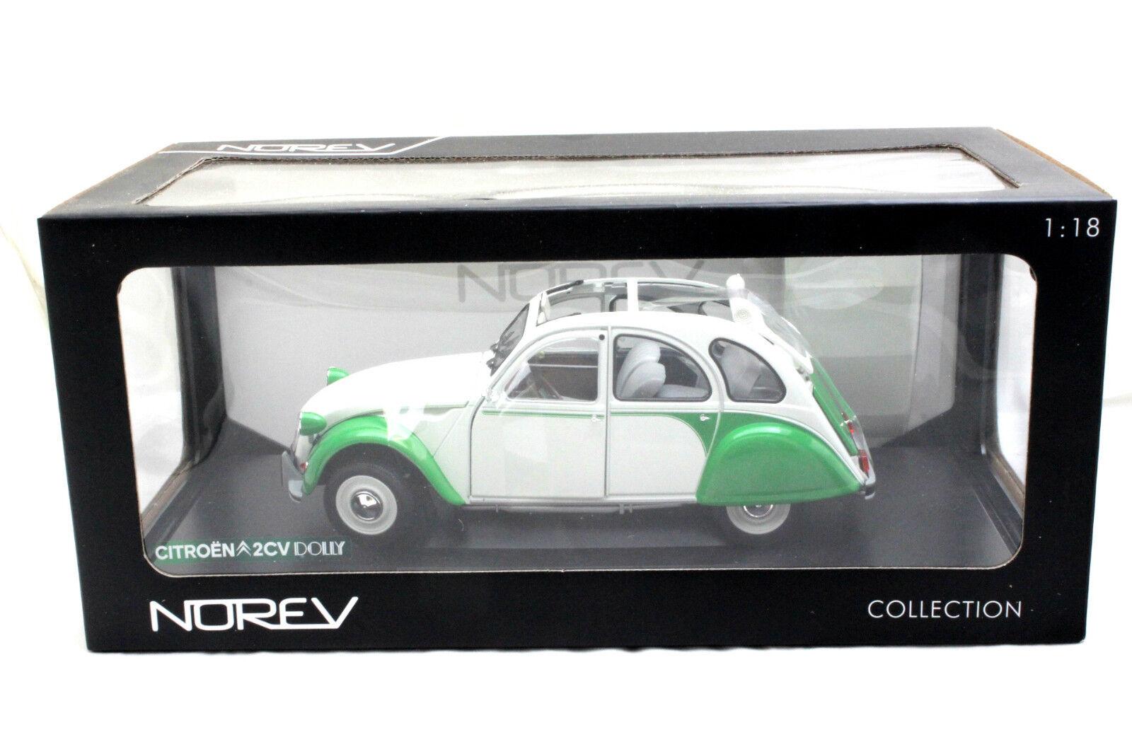 Norev 1985 CITROËN 2CV Dolly Blanc Vert 1 18 Voiture Miniature 181552