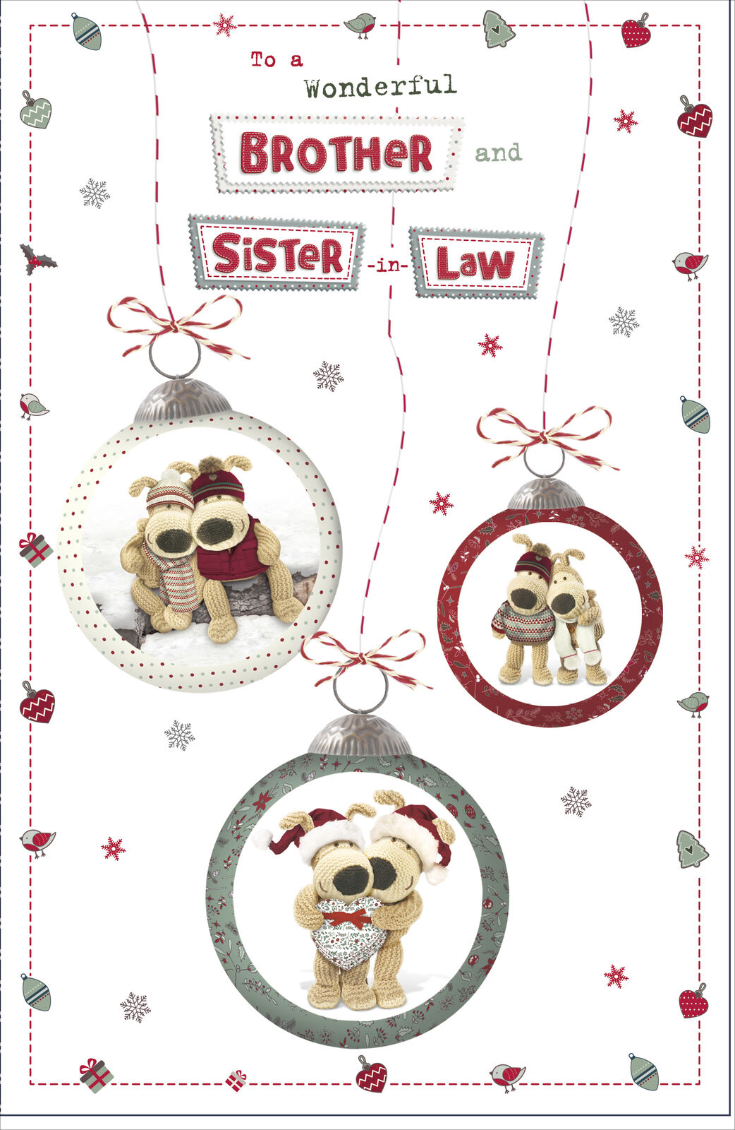 Boofle To A Wonderful Brother And Sister In Law Christmas Card Gift For Sale Online Ebay