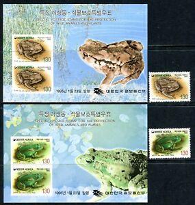 417-Korea-Wild-Animal-Frog-MNH-Set-Souvenir-Sheets