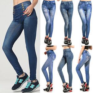 Women-Skinny-Pants-Jeggings-Stretchy-Slim-Leggings-Jeans-Pencil-Tight-Trousers