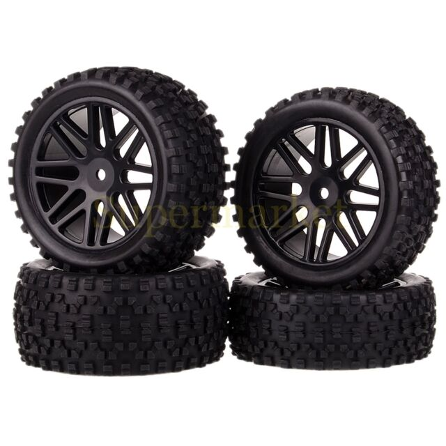 4xRC 1/10 Off Road Buggy 66015-66035 Wheel Rim&Tyre (Front+Rear) Fit HSP RedCat