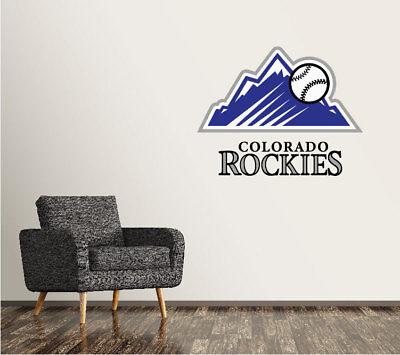 Colorado Rockies Wall Decal Logo Baseball MLB Art Sticker Vinyl LARGE SR57