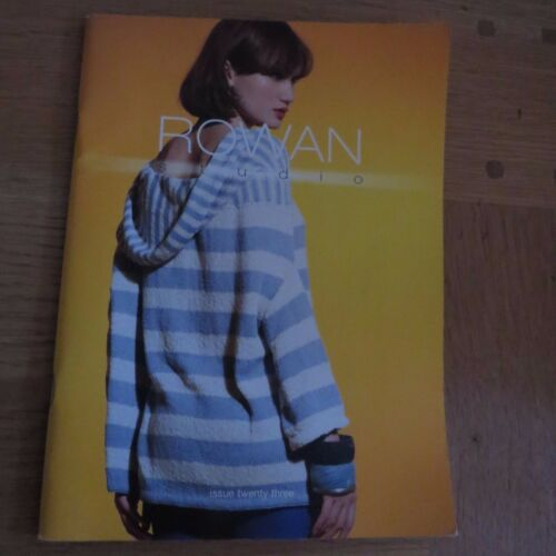 Rowan studio numéro 23-resort pattern book 8 designs by grace melville