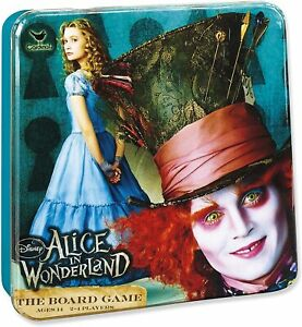 NEW open box Disney's Alice in Wonderland Board Game Tin  Complete Johnny Depp