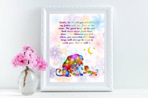 Uhomate The Lion King Simba Inspirational Quote Print Nursery Wall Decor C084