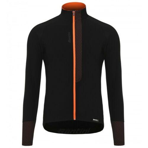 Shirt Man Full Zip Santini Vega Aquazero L//S Jersey Long Sleeve T Black//Oran