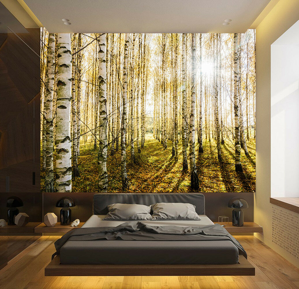Forrest Sunlight Wallpaper Mural Photo Pattern Wall Home Room Poster Decor