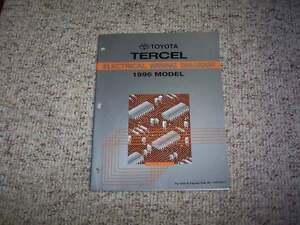 1996 toyota tercel electrical wiring diagram manual cx 1 5l 4cyl ebay rh ebay com