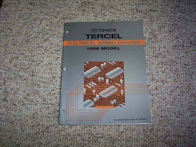 1996 Toyota Tercel Electrical Wiring Diagram Manual CX DX ...