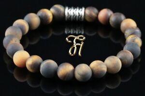 Tigerauge-Armband-Bracelet-Perlenarmband-braun-matt-8mm