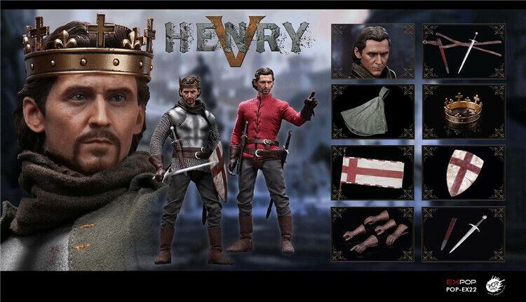 POPTOYS EX22 échelle 1 6th Angleterre roi Henry V mâle figurine de collection