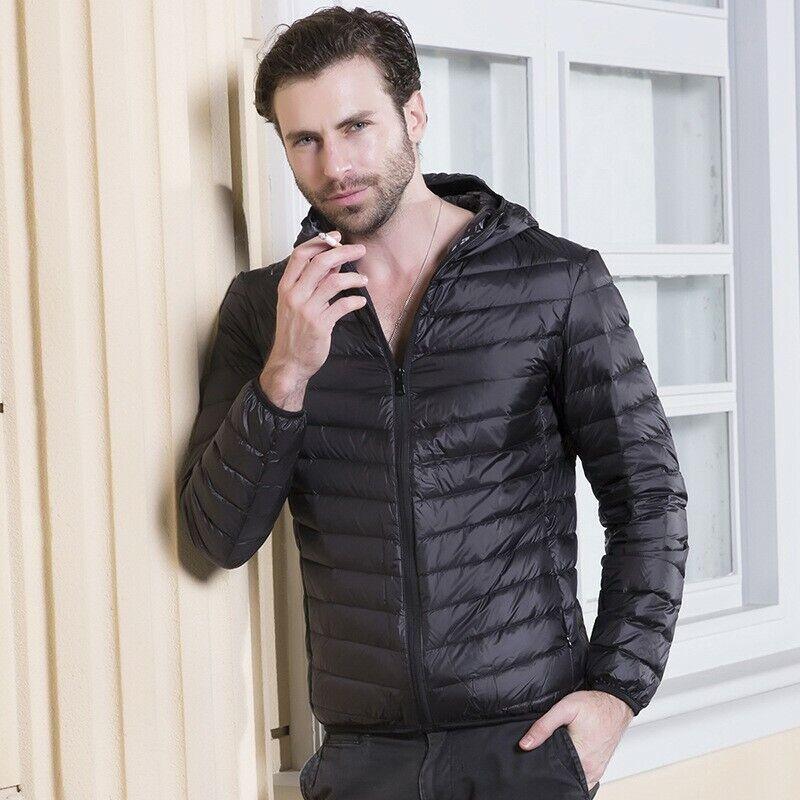Para Hombre con Capucha  Chaqueta de algodón abrigo de burbuja Globo Ultraliviano Invierno Cálido Prendas de abrigo  increíbles descuentos