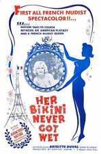Her Bikini Never Got Wet Poster 01 Metal Sign A4 12x8 Aluminium
