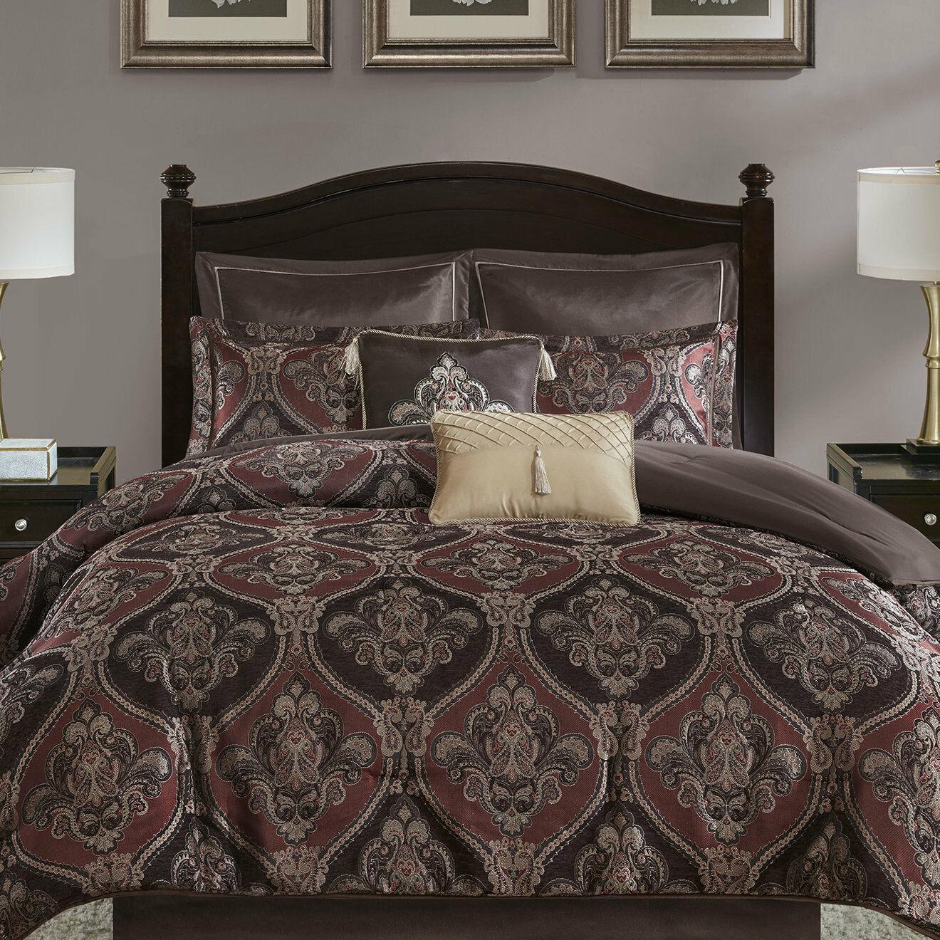 Fleur De Lis Living Clara 8 Piece Chenille Jacquard Comforter Set
