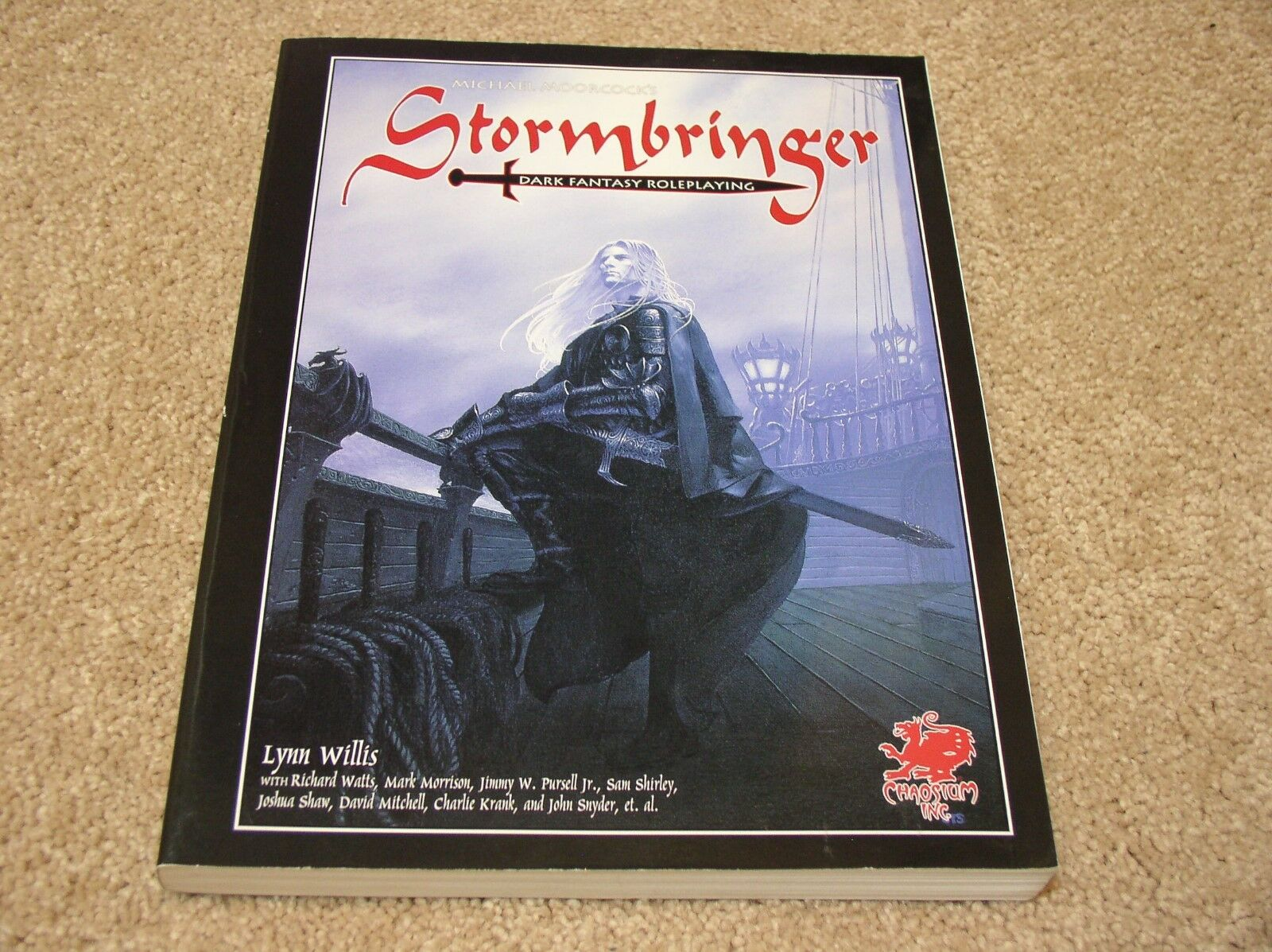 Chaosium Stormbringer 5th Edition softcover rulebook