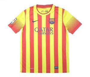 Barcelona 2013-14 ORIGINALE AWAY SHIRT (eccellente) XL Ragazzi Calcio Jersey