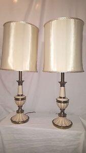 Vintage Stiffel Lamps >> Pair Of Vintage Mid Century Signed Stiffel Lamps Vintage Stiffel
