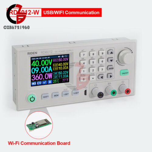 RD6012W WiFi DC DC Voltage Step down Power Supply buck converter multimeter