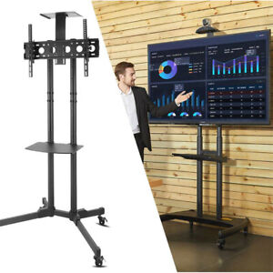 Mobile-TV-Cart-Floor-Stand-Mount-Trolley-Fit-32-70-034-TVs-DVD-Cart-Stand-Shelf