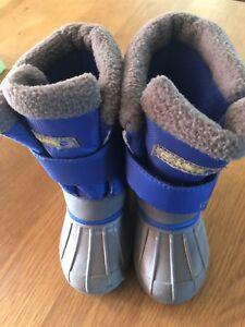 7e91e0535f5b Campri Snow Boots Infant C7 EU 24 Blue Grey Winter Warm Shoes Fleece ...