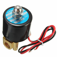 "Hot Sale! 1/4"" 2Way N/C Electric Solenoid Valve 12V DC-Volt for Air Gas Fuel"