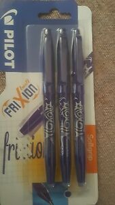 Pilot-Frixion-Erasable-Rollerball-0-7-mm-Tip-Blue-Pack-of-3
