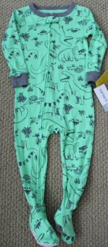 Carter/'s Pajamas 18 M Footed NWT Cotton Boy/'s Dino Dinosaurs Snug Fit Green
