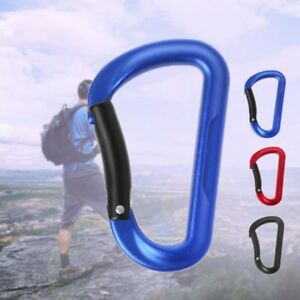 Aluminum-Alloy-D-ring-Carabiner-Camping-Keychain-Outdoor-Clip-Snap-Hook-Buckle