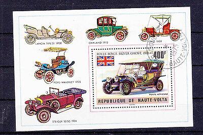 """Toller Markenblock Haute volta """" Rolls Royce Silver Ghost 1910 """" ZuverläSsige Leistung Burkina Faso Briefmarken"""