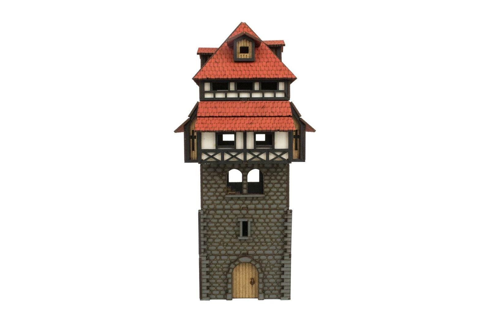 WWG Medieval Town Wehr-Turm (Vorbemalt Unbemalt) - 28mm Gelände Modelbau