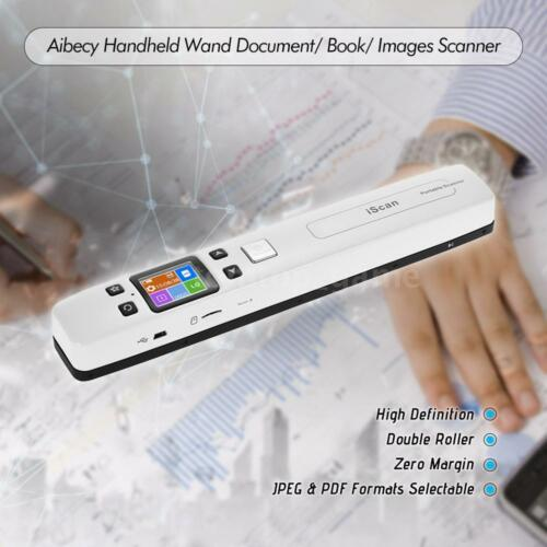 Aibecy iScan02 Portable Handheld Wand Document// Book// Images Scanner K8N5