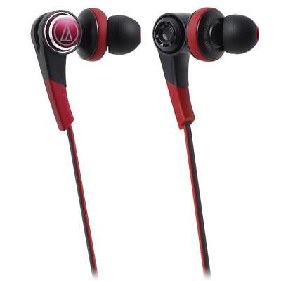 Audio-Technica ATH-CKS770iS Brd Black Red Solid Bass In-Ear earphones Headphones