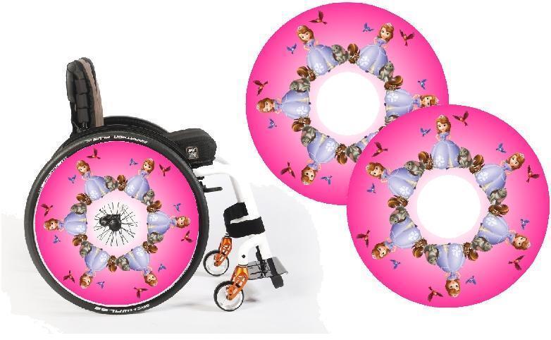 s l1600 - Cubrerradios para Silla de Ruedas Adhesivos 100 Limited Edición Diseños