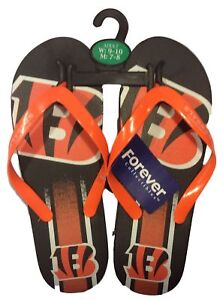 7119f393f089 Cincinnati Bengals Men s Big Logo Gradient Unisex Beach Flip Flop ...