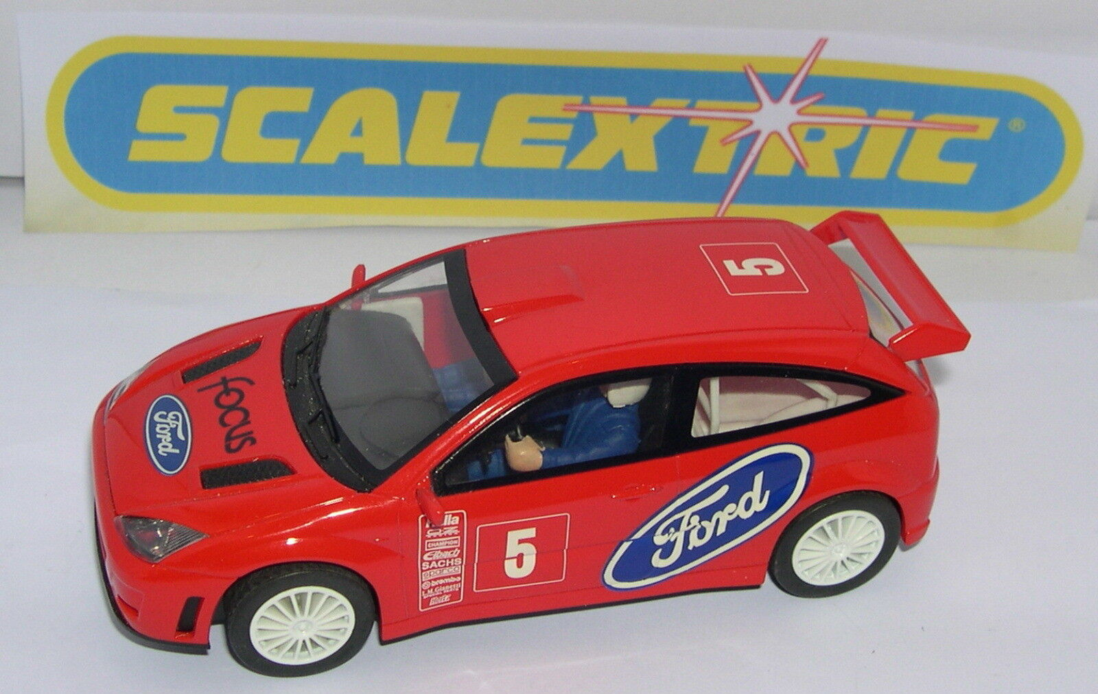 SCALEXTRIC C2295W FORD FOCUS WRC  5 ONLY ARGOS SET C-1057K MINT UNBOXED