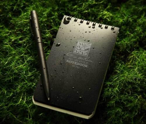 "Rite In The Rain 3/""x 5/"" Waterproof Pocket Notepad 50 Sheets Tactical BLACK No735"