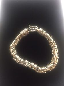 Image Is Loading 925 Sterling Silver Byzantine Bracelet