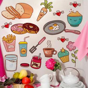 Azulejo De Cocina Comida Snacks Lindo Extraible Decoracion Pared