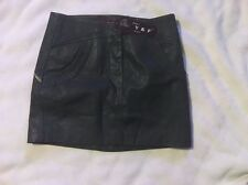 "Faux Leather MINI  Skirt WAIST 28""  PVC Y & F NWT"