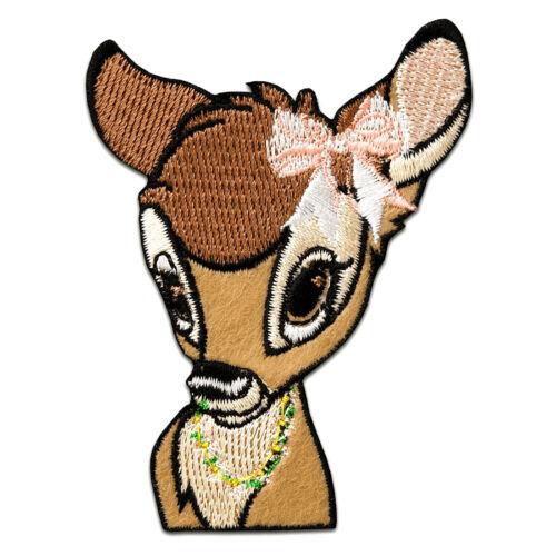 Application В6x8cm brown Iron on patches BAMBI head animal children