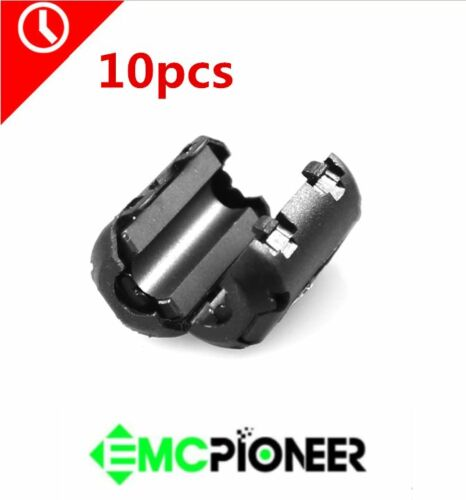 10pcs clip on Noise Suppressor 3-5mm Cable split ferrit Core EMI Filters PERC35B