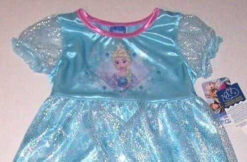 Nwt New Disney Frozen Princess Elsa Nightgown Pajamas Costume Dress DressUp Girl