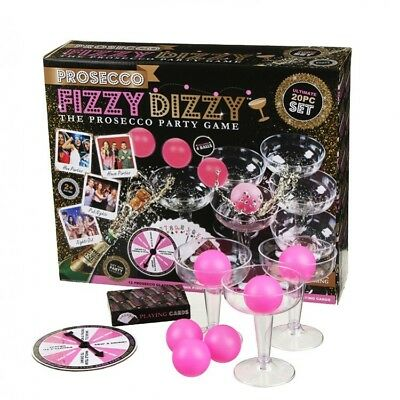 Prosecco Fizzy Dizzy Skill Luck Beer Pong Adult Drinking Game House Party Fun
