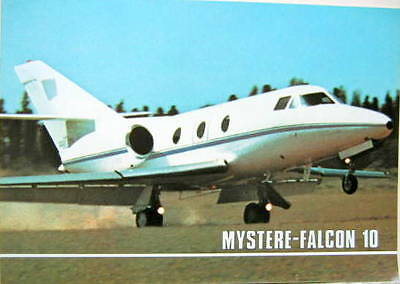 1974  DASSAULT AVION MYSTERE FALCON 10  CATALOGUE AVIATION
